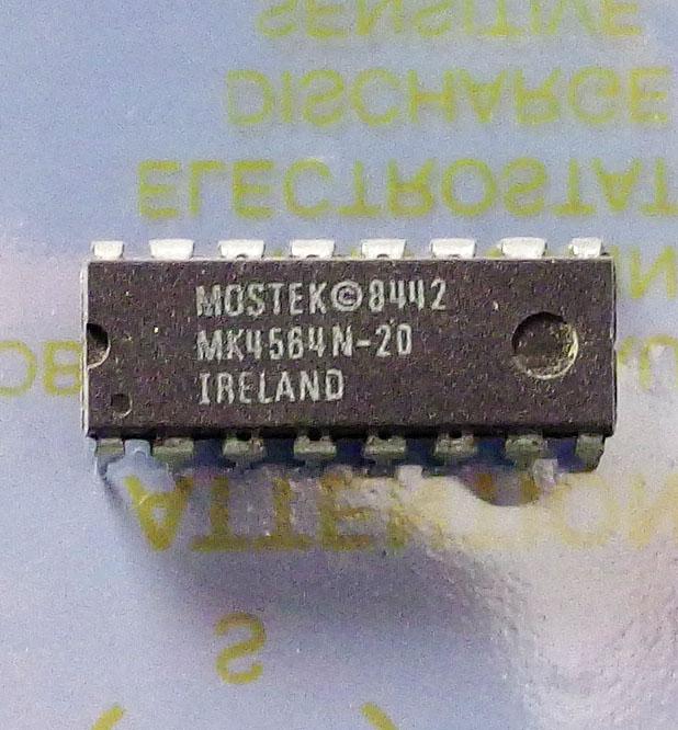 MK4564N-20 MOSTEK MK4564N-20 16 PIN DIP