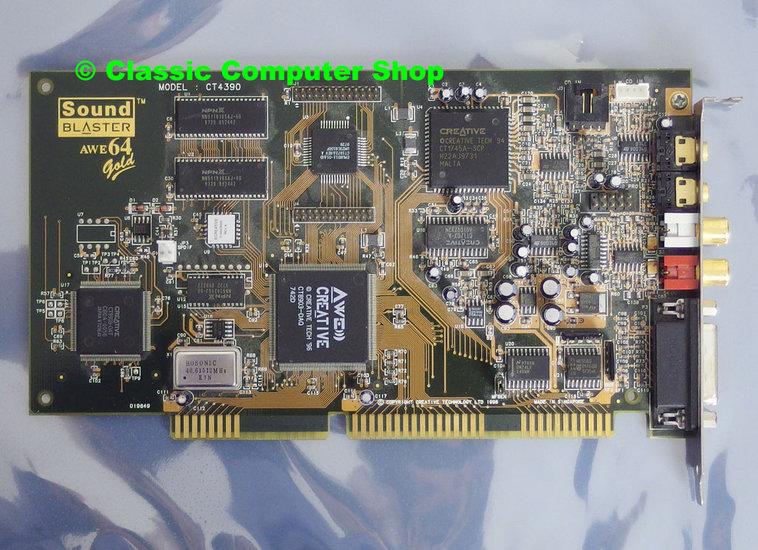 Creative CT4390 Sound Blaster AWE64 Gold audio 16-bit ISA PC