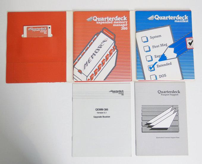 Quarterdeck QEMM-386 5.1 expanded memory manager 386 3.5\u0027\u0027 disk PC