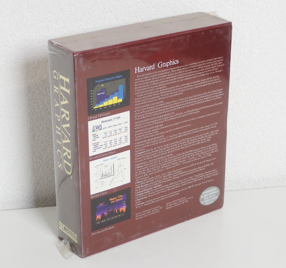 New & sealed Harvard Graphics v2 12 English 3 5'' & 5 25