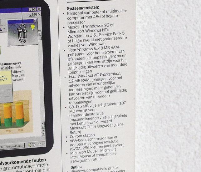 Microsoft Office 97 Standard Upgrade Dutch PC CD-ROM complete in box