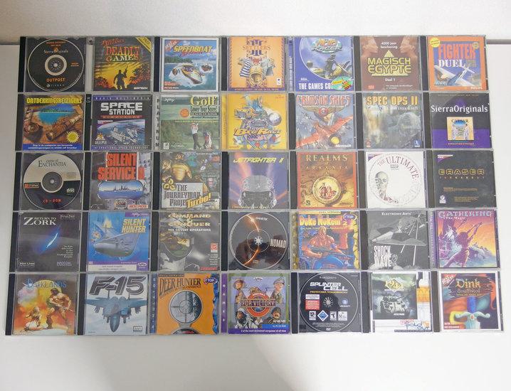 Lot of 35 original PC CD-ROM games - DOS Windows 3 1 3 x 95 98 386