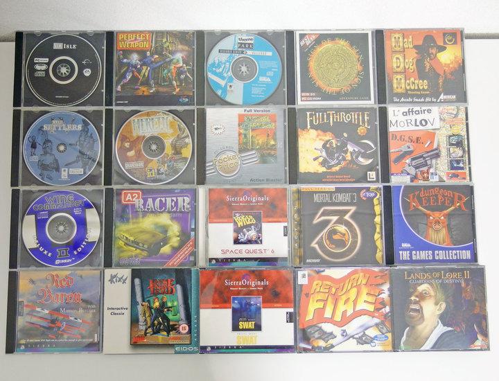 Lot of 20 original PC CD-ROM games - DOS Windows 3 1 3 x 95 98 386