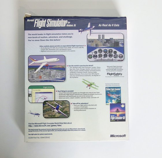 PC CD-ROM game Microsoft Flight Simulator 6 0 for Windows 95