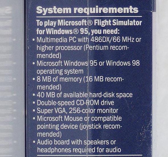 PC CD-ROM game Microsoft Flight Simulator 6 0 for Windows 95