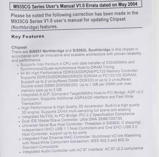 Refurbished PC Chips M935CG mATX PC motherboard main system
