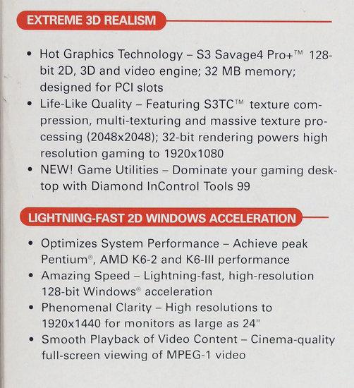 Diamond Stealth III S540 S3 Savage4 Pro+ 32MB VGA graphics video PCI