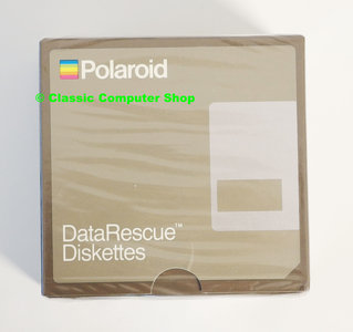 New & sealed Polaroid DataRescue 3.5'' MF/2DD DS/DD double sided double density floppy disks unformatted box of 10p - vintage retro 80s