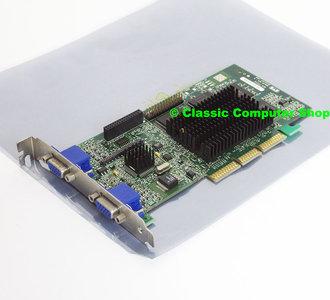 Matrox Millennium G400 32MB MGI G4+MDH4A32G dual VGA graphics video AGP PC card adapter