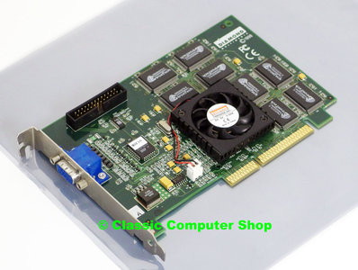 Diamond Monster Fusion 3DFX Voodoo Banshee 16MB VGA graphics video AGP PC card adapter - Glide Pentium Windows 95 vintage retro 90s