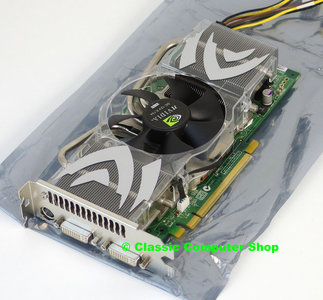 Refurbished AOpen Aeolus 7800GTX DVDC512 NVIDIA GeForce 7800 GTX 512MB dual DVI VIVO graphics video PCIe x16 PC card adapter