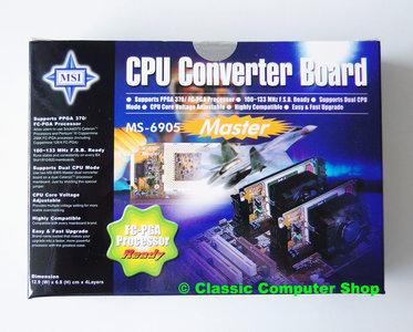 New MSI MS-6905 Master slot 1 to socket 370 CPU slocket - NOS S370 converter adapter slotket processor FCPGA vintage retro 90s Pentium III PIII P3