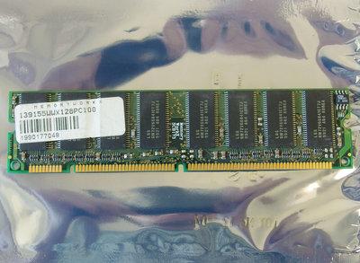 LG Semicon GM72V66841CT7J 128MB PC100 168-pin DIMM SDRAM memory module