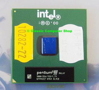 Intel Pentium III Coppermine SL4C8 1GHz socket 370 processor - S370 CPU PIII P3 3 1000MHz