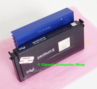 Intel Pentium II Klamath SL2HF 233MHz slot 1 SECC processor w/ heatsink - CPU P2 2 PII cartridge FSB 66MHz