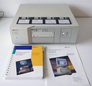 HP Hewlett-Packard Vectra 486/33U 486DX MS-DOS / Windows 3.x desktop PC - 486 ISA EISA parallel LPT vintage retro 90s
