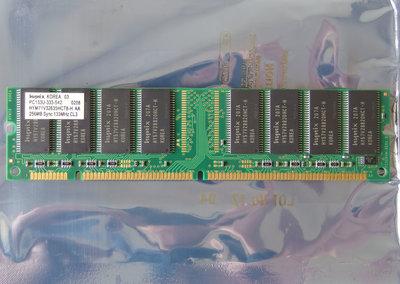 Hynix HYM71V32635HCT8-H AA / COMPAQ P/N 140134-001 256MB PC133 CL3 168-pin DIMM SDRAM memory module