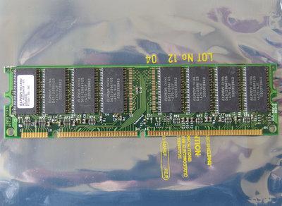 ELPIDA MC-4532CD647XF-A75 / HP 1818-8792 256MB PC133 CL3 168-pin DIMM SDRAM memory module - P1538-63010