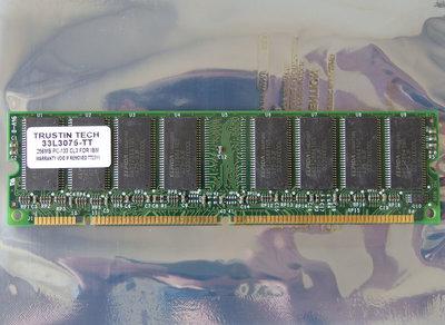 Trustin Tech 33L3075-TT / ELPIDA D45128841G5-A75-9JF 256MB PC133 CL3 168-pin DIMM SDRAM memory module