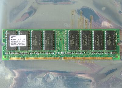Samsung M366S3323CT0-C75Q0 / COMPAQ P/N 140134-001 256MB PC133 CL3 168-pin DIMM SDRAM memory module