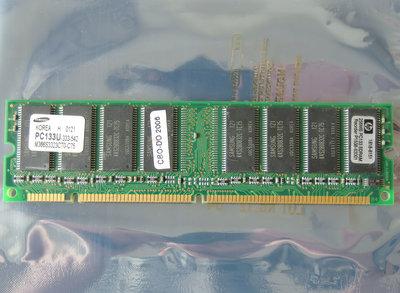Samsung M366S3323CT0-C75 / HP 1818-8151 256MB PC133 CL3 168-pin DIMM SDRAM memory module - P1538-63001