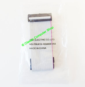New & sealed MSI 3.5'' PC disk drive 2x 34-pin internal flat ribbon twisted cable 30cm - FDD floppy 3.5 inch vintage DOS NOS