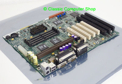 Intel PD440FX slot 1 ATX PC motherboard main system board - AA 668289-307 Pentium II 2 PII P2 PCI ISA Intel 440FX Yamaha YMF715-S OPL3 vintage retro 90s