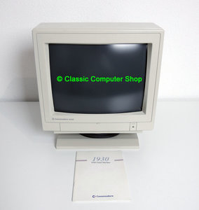 Commodore 1930 VGA color 14'' CRT PC monitor - vintage retro video graphics display beige