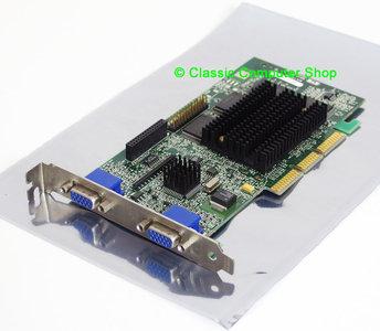 Matrox Millennium G400 MGI G4+MDH4A32G 32MB 128-bit dual VGA DX6 graphics AGP 4x PC card adapter - MGA-G400 dualhead