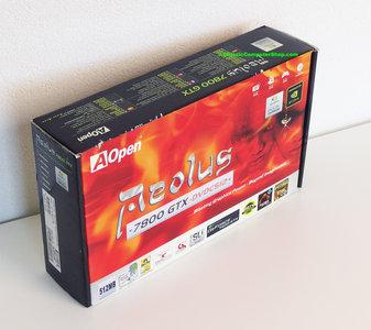 New AOpen Aeolus 7800GTX DVDC512 NVIDIA GeForce 7800 GTX 512MB GDDR3 dual DVI VIVO DX9 graphics video PCIe x16 PC card complete in box - NOS CIB