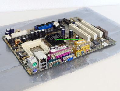 Asus TUSI-M rev. 1.04 socket 370 mATX PC motherboard main system board - S370 Pentium III 3 PIII P3 Tualatin Coppermine Celeron FC-PGA2 VGA ethernet sound PCI SiS 630ET