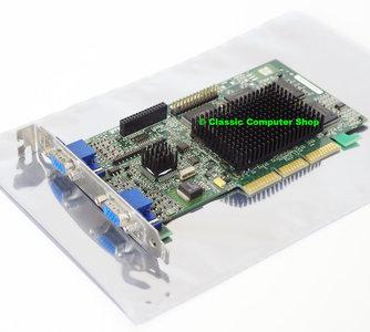 Matrox Millennium G400 MGI G4+MDHA32G 32MB 128-bit dual VGA DX6 graphics AGP 4x PC card adapter - MGA-G400 dualhead