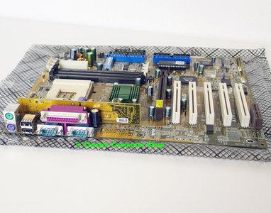 Asus A7V rev. 1.02 socket 462 / A ATX PC motherboard main system board - AMD Athlon XP Duron SDRAM AGP 4x Pro PCI VIA Apollo KT133