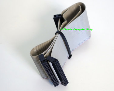 3.5'' PC disk drive 2x 34-pin internal flat ribbon non-twisted cable 42cm - FDD floppy 3.5 inch vintage DOS