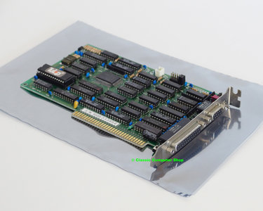 Tulip Yamaha V6363-F CGA / Hercules / MDA graphics video & parallel DB-25 8-bit ISA card adaptor - DOS XT 8088