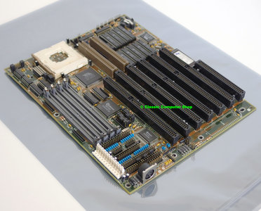FIC 486PVT-IO socket 3 baby AT PC motherboard main system board + cache - ISA VLB 486 486DX4 DOS PGA168 vintage retro 90s