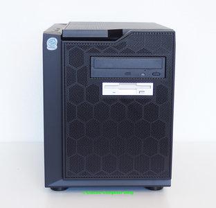 Custom cube PC Celeron 1GHz | 256MB RAM | GeForce FX5500 | CD-ROM | FDD | Windows 98SE - PCI USB parallel LPT floppy diskette VGA DVI retro gaming game vintage