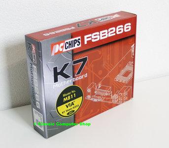 New & sealed PC Chips M811LU V3.1 socket 462 / A ATX PC motherboard main system board - NOS AMD Athlon XP Duron DDR sound AGP 4x PCI USB LAN VIA Apollo KT266A