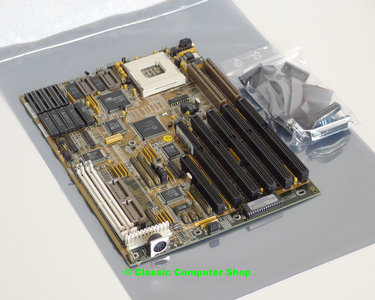 Markvision Flexboard ver. 2.1 H21D socket 3 AT PC motherboard main system board + cache - ISA VLB I/O onboard graphics 486 486DX4 DOS PGA168 vintage retro 90s