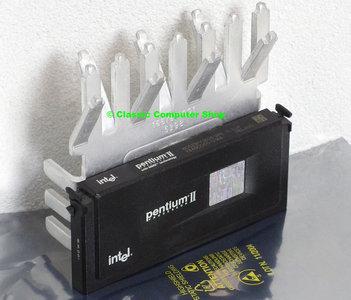 Intel Pentium II Deschutes SL2U4 350MHz slot 1 SECC processor w/ heatsink - CPU P2 2 PII cartridge 100MHz FSB