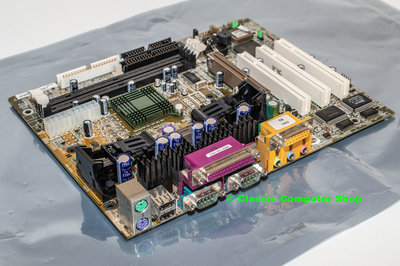 Refurbished MSI MS6191 ver. 1 slot A mATX PC motherboard main system board - Athlon SDRAM AGP 2x PCI USB AMD 750