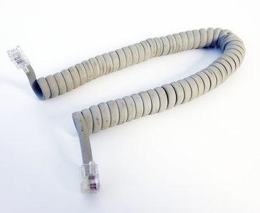 Apple Macintosh 128K / 512K / Plus M0110 M0110A coiled keyboard cable 40 cm grey - vintage retro