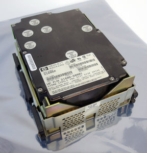HP D1686A 5.25'' full height internal 50 pin SCSI 670 MB hard disk drive HDD Vectra 486/25T - vintage retro Hewlett-Packard