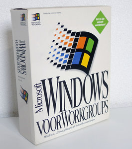 New & sealed Microsoft Windows For Workgroups 3.11 Dutch retail 3.5'' disk PC operating system - NIB NOS vintage retro 90s
