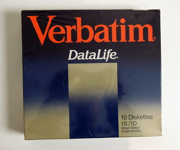 New & sealed Verbatim DataLife 8'' 1S/1D SS/SD single sided single density floppy disks unformatted box of 10p