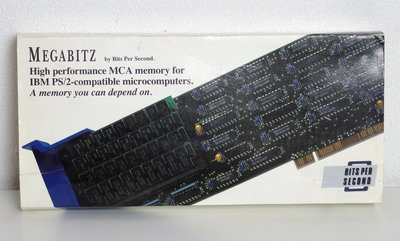 Bits Per Second Megabitz 201C RAM memory expansion 16-bit MCA card adapter complete in box - PS/2 vintage retro 80s 90s