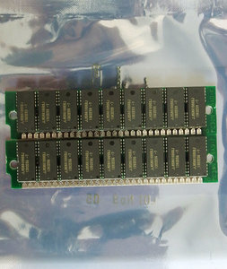 Set 2x Mitsubishi MH1M09BOJ-7 1 MB 1MB 2 MB 2MB kit 70 ns 70ns 30-pin SIMM parity RAM memory modules - vintage retro 80s