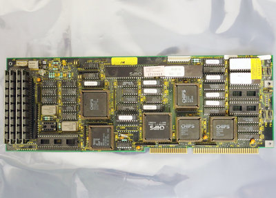 CHIPS P/N 112009400 AMD 286 plugin motherboard main system board 16-bit ISA card - vintage retro 80s DOS