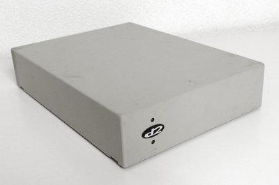 d2 STOL-HD-Q1281 external SCSI centronics 50-pin 3.5'' hard disk drive HDD HD grey metal case enclosure - vintage retro 90s