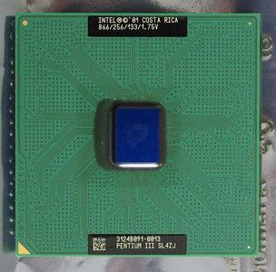 Intel Pentium III Coppermine SL4ZJ 866 MHz socket 370 processor - CPU PIII P3 866MHz S370
